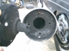 CB125ノーマルマフラー消音器画像