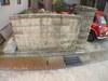 家の門柱とブロック塀画像