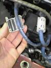 ローバーミニクーパーのプラグコードにフェライトコア装着画像1