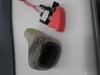 ミニクーパーのノーマルシフトノブとミサイルスイッチ画像