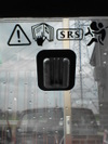 ローバーミニクーパーの純正ルームミラー取り付けステー画像