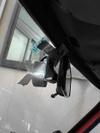 ローバーミニクーパーの純正ルームミラー接着画像1