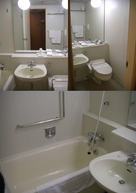 ミニクーパーで泊まったホテルバスルーム