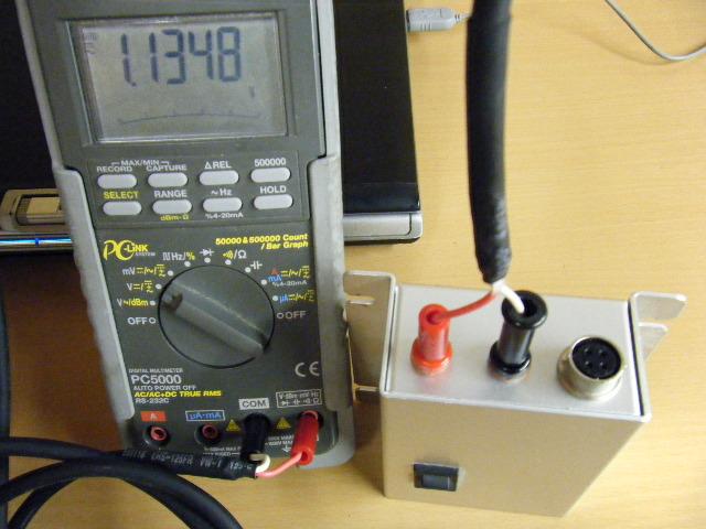 ミニクーパーの振動センサー+1G出力