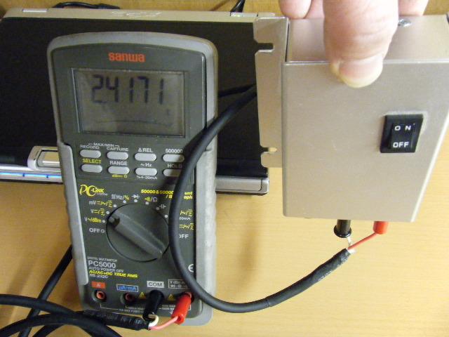 ミニクーパーの振動センサー-1G出力
