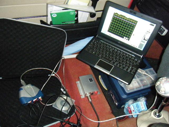 ミニクーパーの振動計測装置
