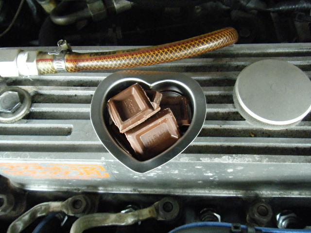 ミニクーパーのシリンダーヘッド温度利用