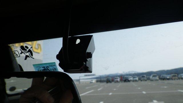 ミニクーパーのフロントカメラ